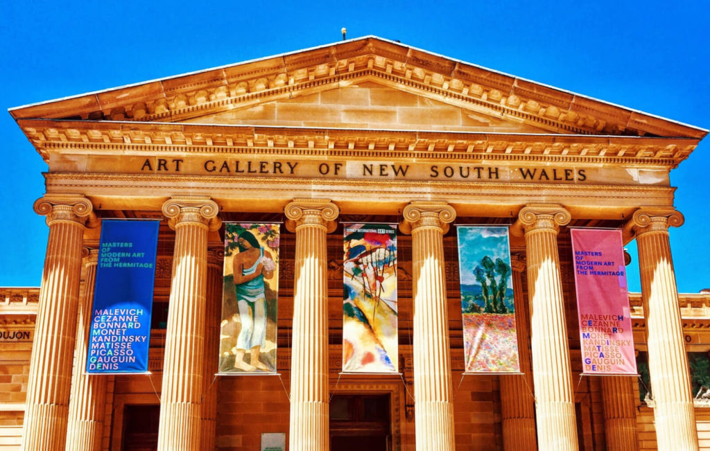 sandstone building with words art gallery of new south wales