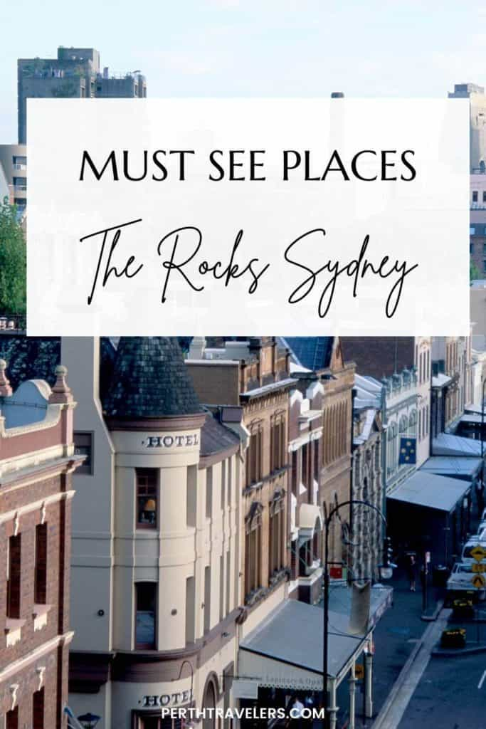 buildings with text must see places in the rocks sydney