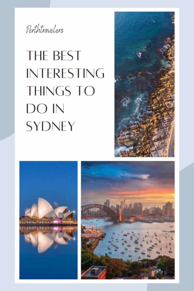 things to do in sydney with three photos of the city