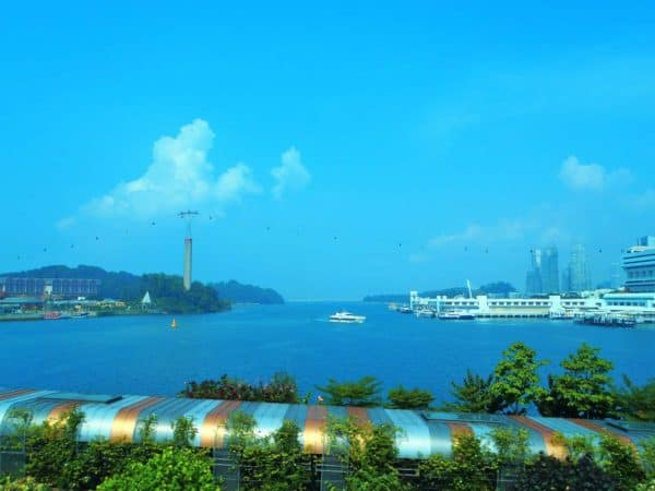 View from Sentosa Express