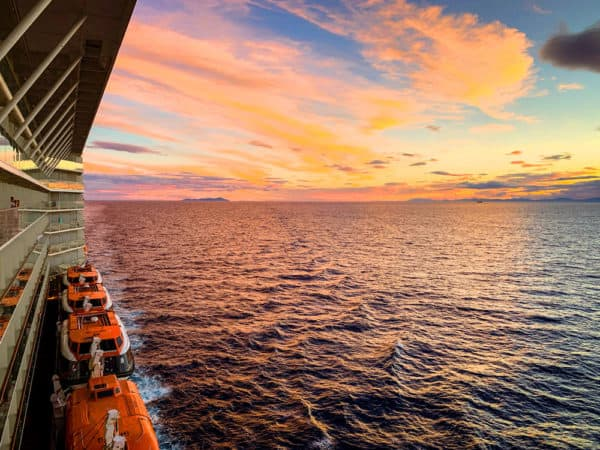 sunset from celebrity solstice