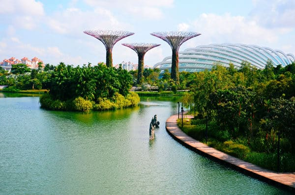 artificial trees in gardens singapore