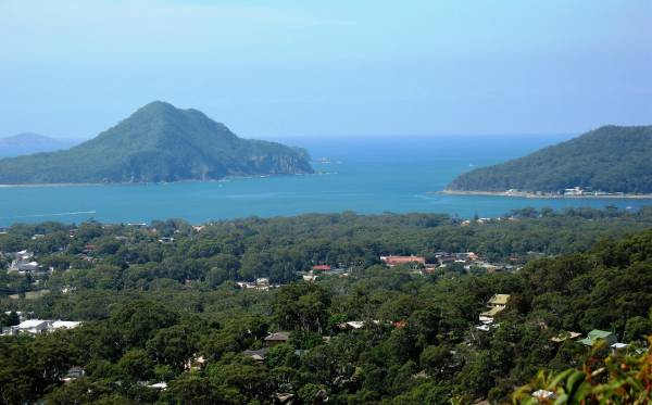 view over port stephens