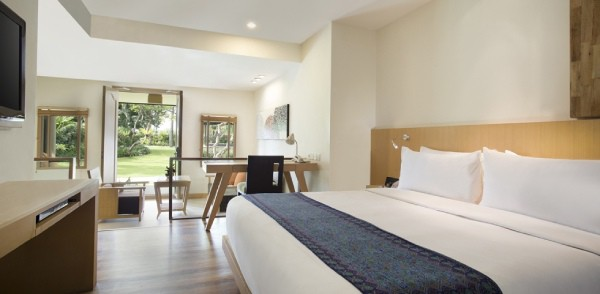 hotel suite with access to garden