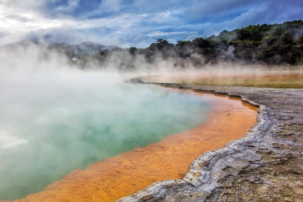 geothermal champagne coloured pool