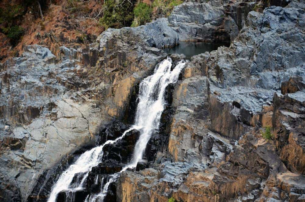 a waterfall cascading over rocks